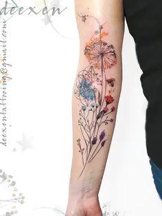 Sleeve Tattoos Random Girl Tattoos – tattoos for women half sleeve Delicate Flower Tattoo, Flower Tattoo Arm, Flower Tattoo Shoulder, Flower Tattoo Designs, Realistic Flower Tattoo, Colorful Flower Tattoo, Girl Back Tattoos, Girls With Sleeve Tattoos, Shoulder Tattoos For Women