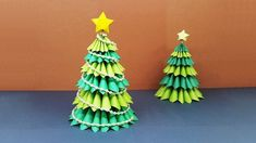 How To Make A Beautiful 3D Paper Christmas Tree | Amazing DIY crafts for Christm...