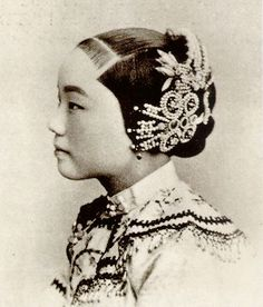 """In the Chinese woman's rite of passage, hairpins played an important function to display the coming of age.  When a girl turned fifteen, she would be considered an adult and of marriageable age. She would forsake wearing her hair in braids, but instead pull her hair into a bun, using ornate hairpins to adorn the style. This tradition was called the """"Hairpin Initiation"""" or """"笄禮""""."""