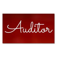 Auditor Red Business Card