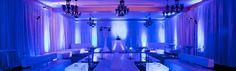 Lounge style #wedding reception with #uplighting and pipe & drape @Lauren Davison Thompson My Wedding.