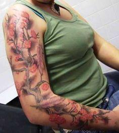 Cherry Blossom Full Sleeve Tattoo