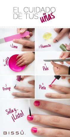 Manicura paso a paso Korean Beauty Routine, Beauty Routines, Shellac Nail Art, Manicure And Pedicure, Best Beauty Tips, Beauty Care, Sauerkraut, Beauty Routine Calendar, Nagel Hacks