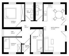 Cubig grundriss singlehaus tiny pinterest grundrisse for Mobiles wohnen im minihaus