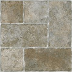 $30.39 , 20 pcs, Revitalize the look of your flooring with this cottage stone self-adhesive floor tile by Sterling. Durable vinyl gives the appearance of natural stone, while neutral grey tones complement both rustic and contemporary design schemes.
