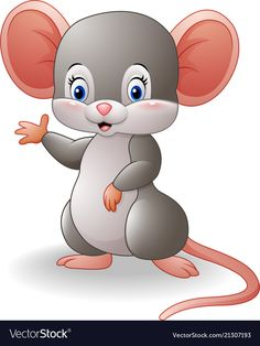 Illustration about Illustration of Cartoon mouse waving hand. Illustration of farm, happiness, child - 78542136 Art Drawings For Kids, Cute Animal Drawings, Easy Drawings, Animal Sketches, Cartoon Cartoon, Cartoon Drawings, Cute Images, Cute Pictures, Baby Animals