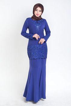 baju kurung moden lace prada royal blue. Kurung terkini 2016 ini cukup cantik dan sopan