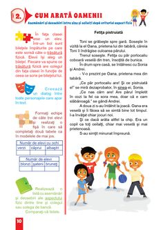 Dezvoltare Personala Semestrul I Romanian Language, Youth Activities, Preschool At Home, Educational Games, After School, 4 Kids, Kids Education, Classroom Management, Embroidery