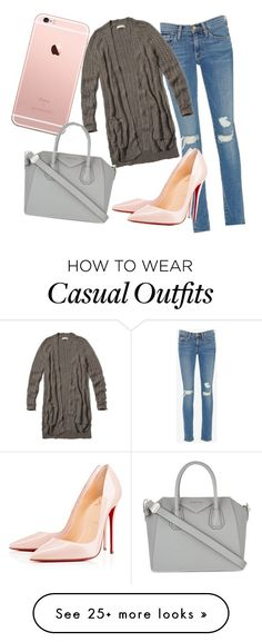 """""""Casual Business"""" by lifeissorosy on Polyvore featuring Frame Denim, Abercrombie & Fitch, Givenchy and Christian Louboutin"""