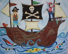 Pirate ship by pcartercarpin on Etsy, $24.00