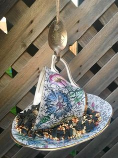 Your place to buy and sell all things handmade Garden Bird Feeders, How To Attract Birds, Perfect Gift For Her, Silver Spoons, Garden Ornaments, Upcycled Vintage, Vintage China, Gifts For Mom, I Am Awesome