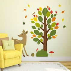 Woodland Theme Nursery Height Chart Fathead Wall Decal