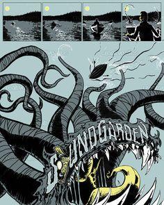 Soundgarden tour poster design by inkblotto on CreativeAllies.com