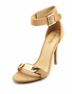 ID Tag Sueded Single Sole Heel: Charlotte Russe