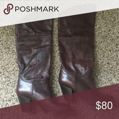 Aldo leather boots with heels only worn one time. in perfect condition. comfortable and great for fall-winter weather! Aldo Shoes Heeled Boots