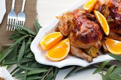 Citrus Glazed Cornish Game Hens from @valleyandco Image by Elle G. Photography