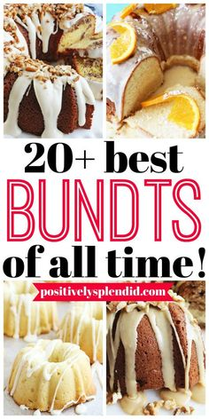 Bundt cakes are so pretty yet easy to make. This list of 20 best bundt cake reci. Bundt cakes are so pretty yet easy to make. This list of 20 best bundt cake recipes is brimming with fabulous Bundt recipes to add to your recipe file! Köstliche Desserts, Delicious Desserts, Dessert Recipes, Passover Desserts, Best Cake Recipes, Pound Cake Recipes, Mini Bunt Cake Recipes, Almond Pound Cakes, Yummy Recipes