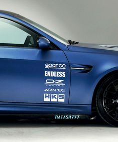 Racing Sponsors CHEVROLET Chevy Sport Car Sticker Emblem Logo Decal WHITE  Pair #natash777