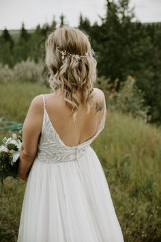 Pinebrook Golf Course Wedding in Calgary. Open back wedding dress. Flowing Wedding Dresses, Open Back Wedding Dress, Wedding Songs, Wedding Couples, Succulent Wedding Favors, Wedding Inspiration, Wedding Ideas, Calgary, Wedding Vendors