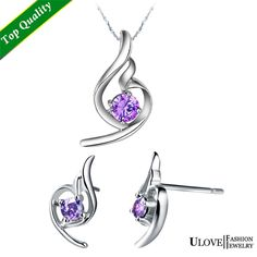 Find More Jewelry Sets Information about Purple Necklace and Earring Set Special Design Amethyst/Clear Cubic Zircon Engagement Wedding Bridal Jewelry Sets Ulove T056,High Quality jewelry teen,China jewelry positions Suppliers, Cheap jewelry yarn from ULOVE Fashion Jewelry Official Store on Aliexpress.com