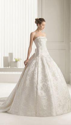 ballgown wedding dress by Rosa Clara