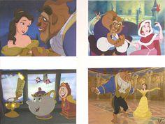 4 Disney Store Pre-Sale Lithographs BEAUTY AND & THE BEAST 2002 MINT w/Portfolio #Disney #PostersPrintsLithographs