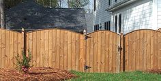 Capped, Scalloped Privacy Fence with French Gothic Posts - Sierra Structures