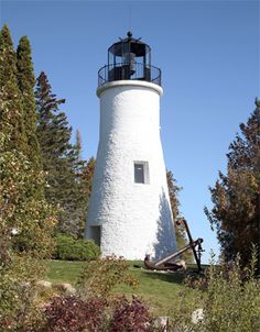 Old Presque Isle Lighthouse, located on the Presque Isle Peninsula,  between Rogers City and Alpena, Michigan--LHF-history