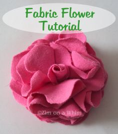 Fabric Flower Tutorial | Zim on a Whim