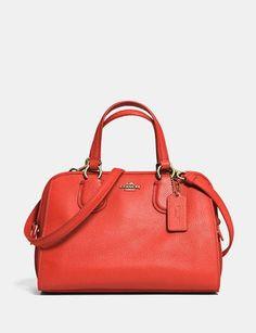 f912d67f6 Coach Mini Nolita Zip Satchel In Pebble Leather Coach Outlet, Coach  Handbags Outlet, Handbag