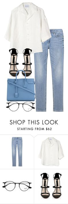 """Untitled #3070"" by elenaday on Polyvore featuring Can Pep Rey, Ray-Ban, Forever New and Yves Saint Laurent"
