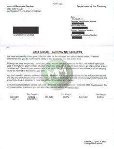 CNC #Sacramento #CA #noncollectible #taxdebt www.mmfinancial.org