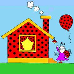 Bogyó és Babóca, Babóca háza Colouring Pages, Homeschool, Felt, Clip Art, Symbols, Letters, Entertaining, Make It Yourself, Drawings
