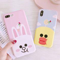 Cartoon Rabbit Duck Animals Cute Soft Phone Case For Iphone 6 6S 7 8 Plus X