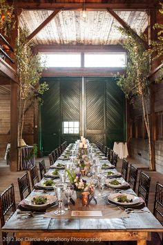 Beautiful barn wedding this past summer. Photo by Symphony Photo.