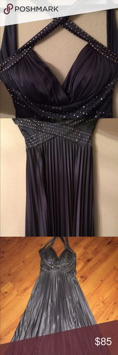 Betsy and Adam evening dress Betsy and Adam evening dress never worn brand new without tags has a beautiful silver gray color stunning dress Betsy and Adam Dresses Maxi
