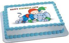 Caillou 2 Edible Birthday Cake Topper OR Cupcake Topper, Decor