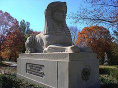 Sphinx tombstone, Mount Auburn Cemetery, Cambridge MA