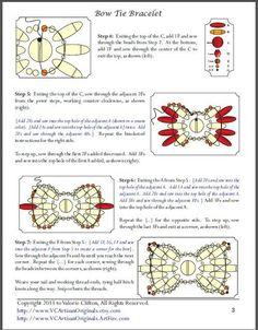 Bead Mavens: Tutorial Bow Tie Bracelet 3