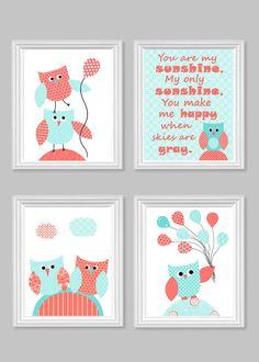 Owl Nursery Art Owl Baby Decor You Are My by SweetPeaNurseryArt