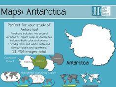 Maps: Antarctica (clipart)