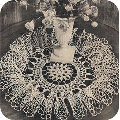 Vintage Doily Pattern | Large Ruffled Doily PC 5145 Crochet PDF Pattern 17 inches Vintage 40s