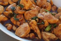 This is the Cashew Chicken we made for New Years 2014
