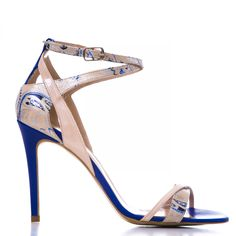 1505 Lac nude cu albastru Ss 15, Sandals, Shoes, Fashion, Slide Sandals, Moda, Shoes Sandals, Zapatos, Shoes Outlet
