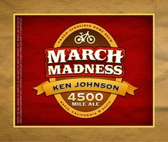 March Madness Beer Label