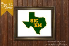 Game Day Decor The Big 12 Series  BAYLOR by xoLoreyDesigns on Etsy