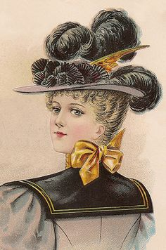 Ladies' Large Hat for October 1896