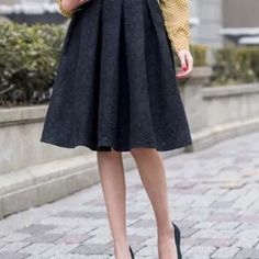 "*PM Editor Pick* Express Black Pleated Skirt Sophisticated black pleated skirt by Express. Comes with lining in the inside. Dimensions: 24 1/2"" (Length) x 14"" (Waist). Express Skirts A-Line or Full"