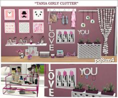 "Sims 4 CC's - The Best: ""Tania"" Girly Clutter by pqSim4"