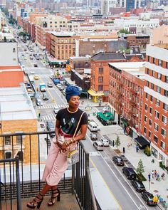I'm not afraid of heights because when I was a child, my head was always in the clouds. Actually, it still is. Don't stop dreaming. #findingpaola #Harlem #paolalostinnewyorkcity  @_darnellscott_ #inourshoes #accessoryfix  #headwrap/jewelry: @fanmdjanm http://liketk.it/2p0K6 @liketoknow.it #liketkit